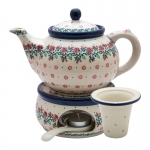 Teapot 1200 ml with tea infuser and warmer
