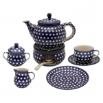 TEA SET FOR 6 Teapot Warmer Cups Plates Sugar bowl Milk jug