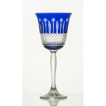 Crystal wine glasses 220 ml colored SET of 6